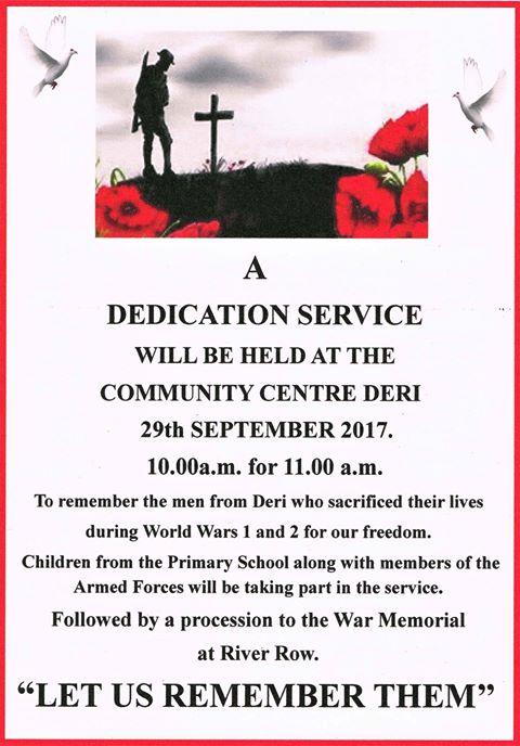 DERI. memorial poster